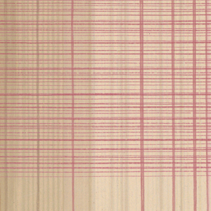 Large plaid design in pink, beige and rose. Incomplete repeat.