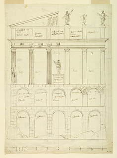Drawing, Design for a Poultry House, ca. 1825