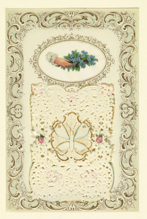 Greeting Card, Paper cut-out Valentine, ca. 1870–80