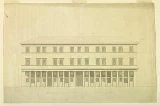 Drawing, Design for the Elevation of a Town House, ca. 1820