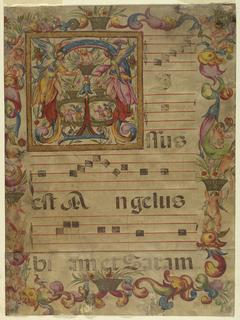 Illuminated Page Fragment (Italy), 1650–75