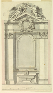 Drawing, The elevation of an altar with two alternative suggestions, 1775–1800