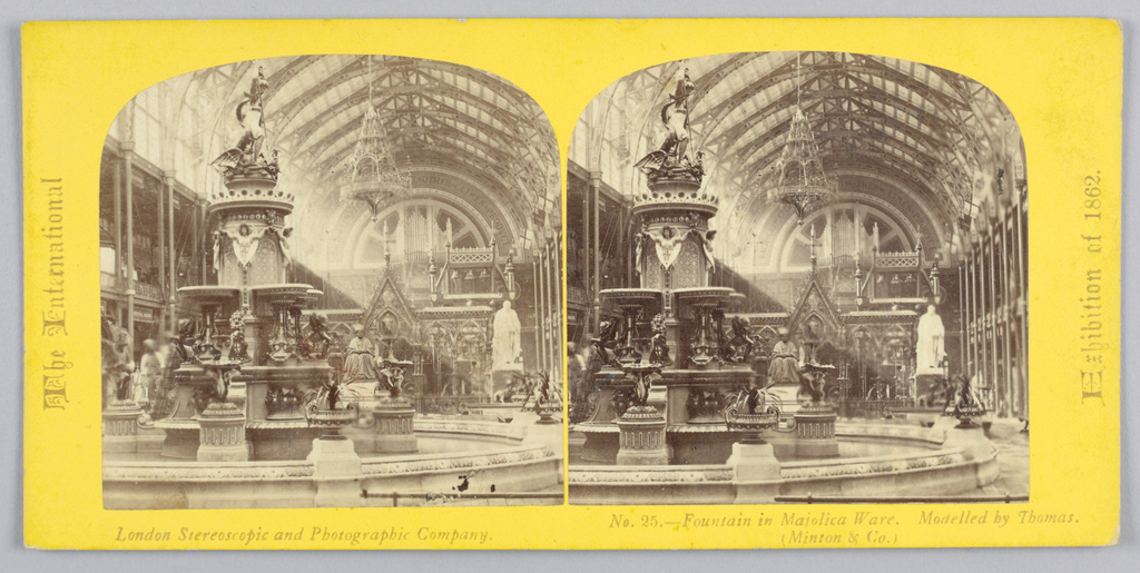 Stereograph Slides, Views of the London Exhibition of 1862