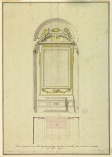 Drawing, Project for an altar of the Annunciation for S. Antonio dell'Ospedale in Anagni, 1780