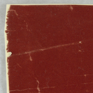 Rectangle. Plain paper in dull red flock.