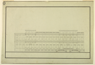 Drawing, Design for the Elevation of a Public Building, 1750–1800