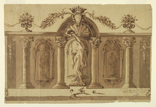 Drawing, Design for a Festival Loggia, 1722