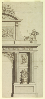 Drawing, Design for the Elevation of a Triumphal Arch, 1750–75