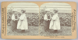 Stereoscope Slides, Give you a penny for a kiss