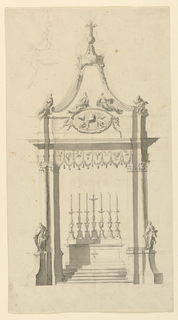 Drawing, Baldacchino with Papal Ar, 1775