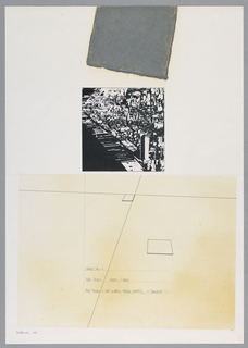 Drawing, Times Square I: The Plan, 1984