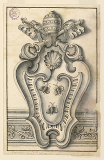 Drawing, Arms of Pope Urbanus VIII, ca. 1630