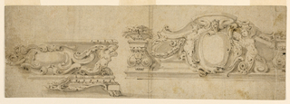 Drawing, Base and Overdoor, ca. 1675