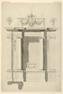 Drawing, Terminus of an All e (or, 1775