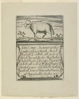 Trade Card, Trade Card: Advertisement, ca. 1750