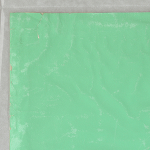 Apple-green paper without ornament.