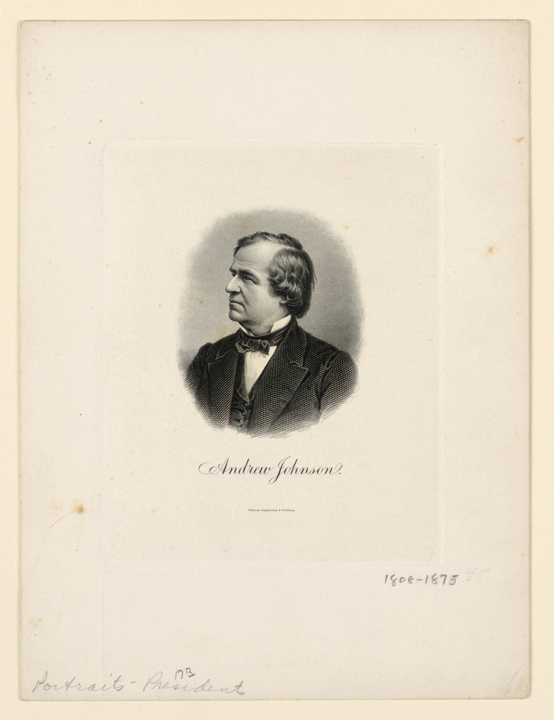 Bank Note, Portrait of Andrew Johnson, ca. 1890