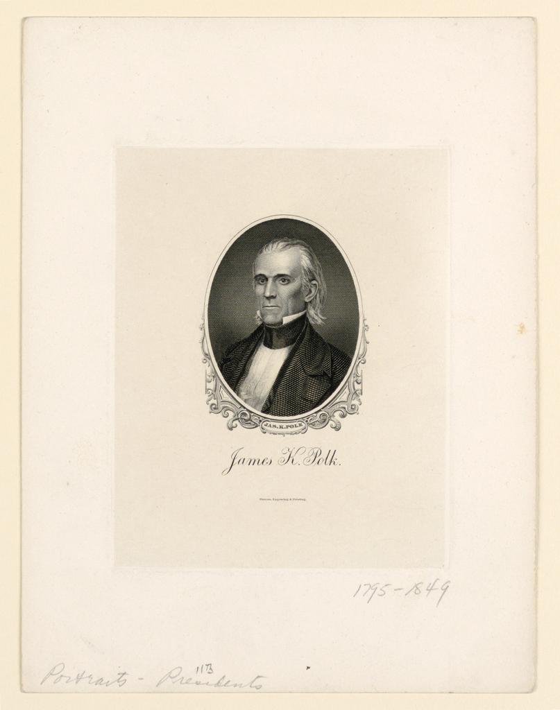 Bank Note, Portrait of James K. Polk, ca. 1890