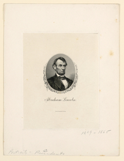 Bank Note, Portrait of Abraham Lincoln, ca. 1890