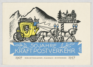 Postcard promoting the 50 year anniversary.