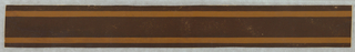 Brown ground with narrow tan stripes along edges.  H# 142