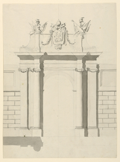 Drawing, City Gate, 1775