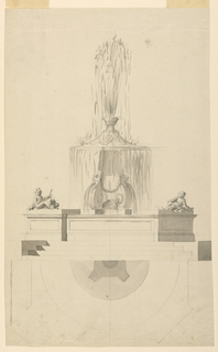 Drawing, Fountain, 1775