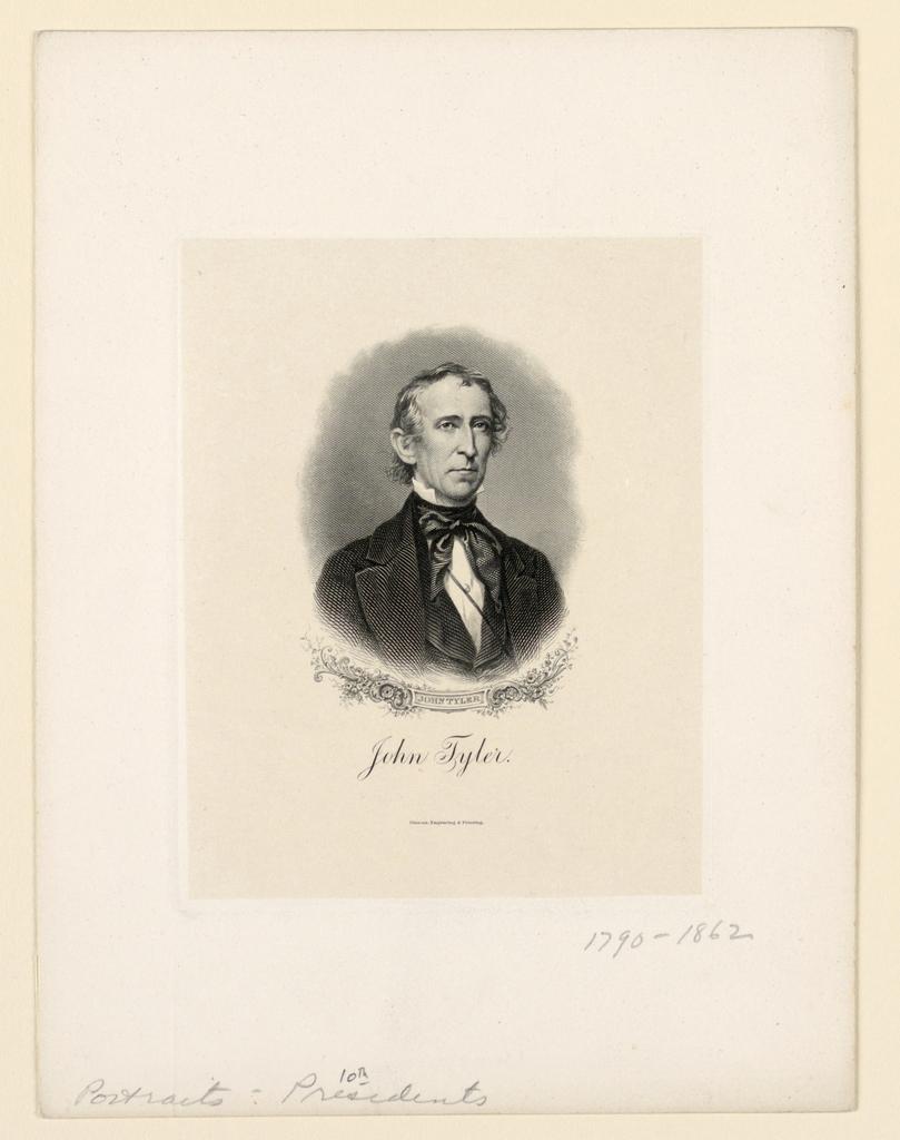 Bank Note, Portrait of John Tyler, ca. 1890