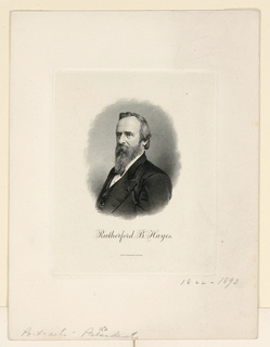 Bank Note, Portrait of Rutherford B. Hayes, ca. 1890