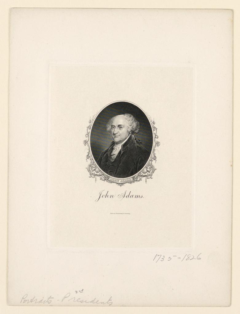 Bank Note, Portrait of John Adams, ca. 1890