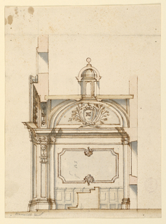 Drawing, Project for the decoration of a chapel, 1700–1730