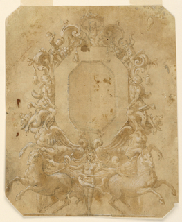 Drawing, Octagonal Panel Decoratio, 1675–1700