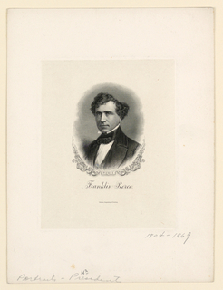 Bank Note, Portrait of Franklin Pierce, ca. 1890