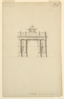 Drawing, Elevation of a Triumphal Arch