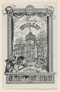 Print, Bookplate for Monty Woolley