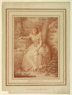 Print, Portrait of Mrs Fritzherbert, 1792