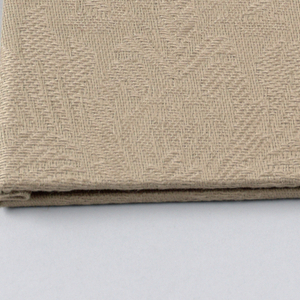 A pair of black chopsticks in horizontal positiion is centered on front cover of beige folder, which has marbleized green endpapers.