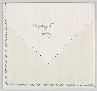 Holiday Card Envelope, Valentine's Day, 1995