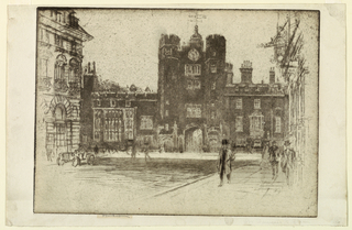 Print, St. James's Palace from St. James's Street, 1904