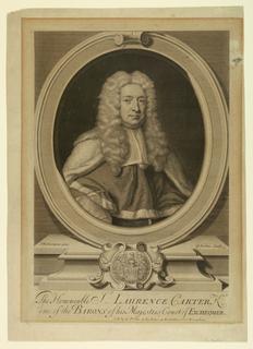 Print, Sir Laurance Carter, 1733