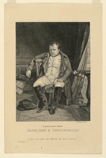 Print, Napoleon Bonaparte at Fon, 1820–30