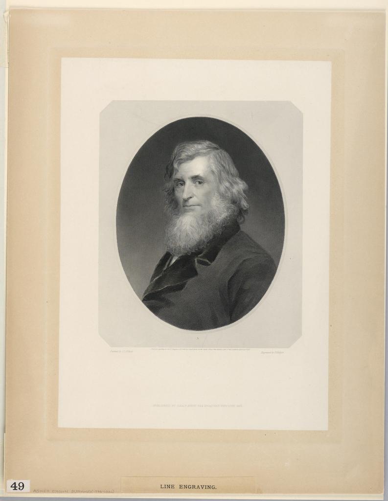 Print, Portrait of Asher B. Durand