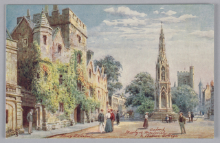 Horizontal rectangle. One of six Tuck's postcards of views of Oxford. Series II. In yellow envelope.