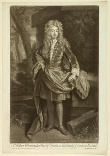 Print, Portrait of Sir John Percival Bart of Burton in the County Cork of Ireland, 1708