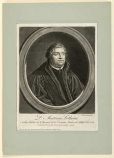 Print, Portrait of Martin Luther