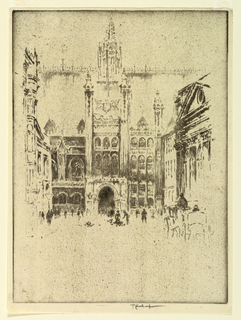 Print, The Guildhall, 1905