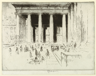 Print, The Steps, British Museum, 1904