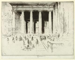 Print, The Steps, British Museum, 1904