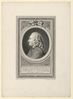 Print, Portrait of Charles J. F. Henault (1685-1770)