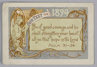 Greeting Card, 1894